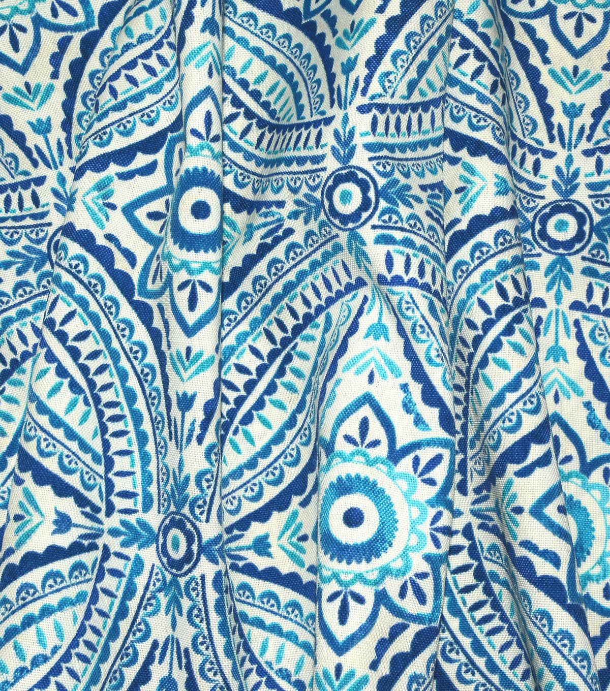Kelly Ripa Home Outdoor Fabric 54\u0022-Blissfulness Indigo