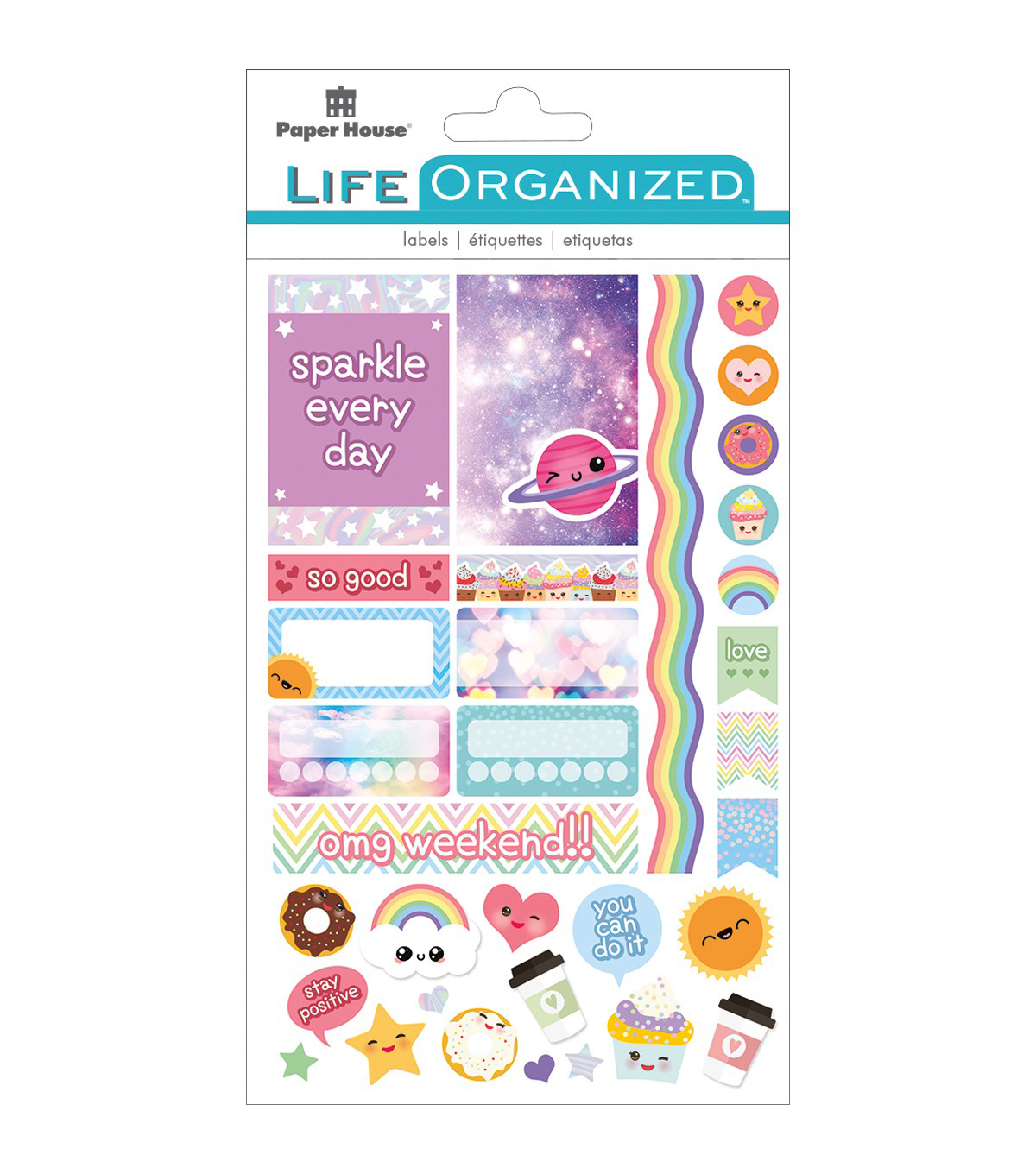 Paper House Life Organized Planner Stickers 4/Sht-Kawaii Fun