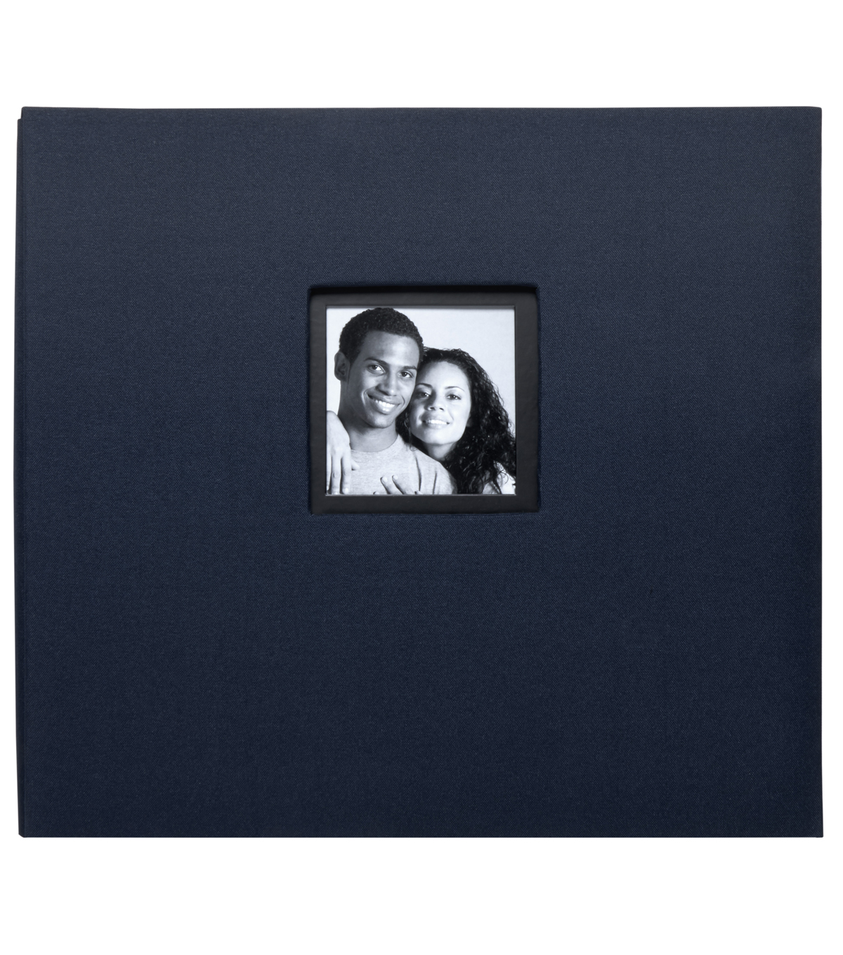 K&Company Navy Fabric 12\u0022x12\u0022 Window Scrapbook