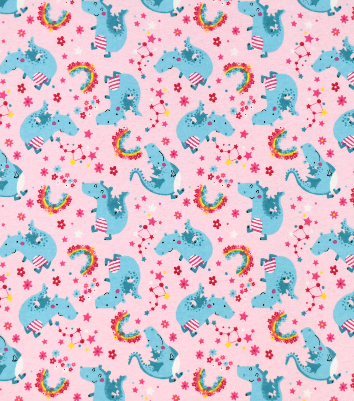 Snuggle Flannel Fabric-Dragons and Rainbows