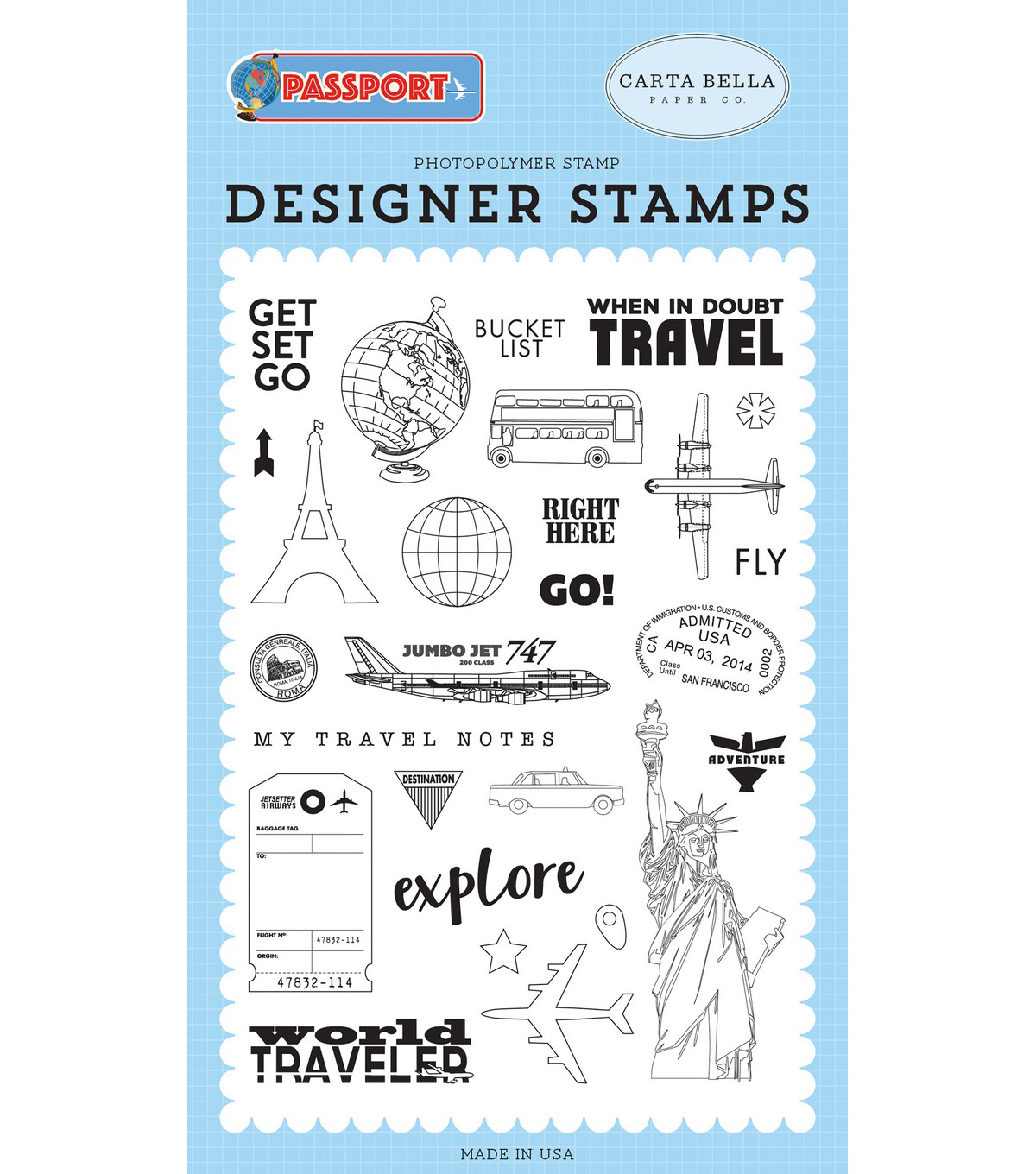 Carta Bella Stamps-Get Set Go
