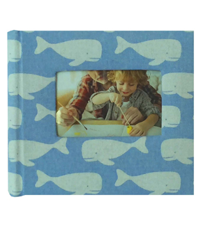 Park Lane 9.5\u0027\u0027x8.5\u0027\u0027 Photo Album-Whales on Blue