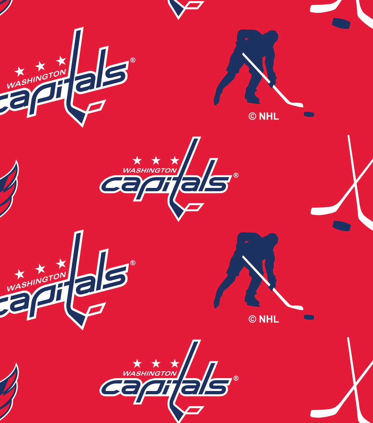 Washington Capitals Fleece Fabric 60\u0022-Tossed