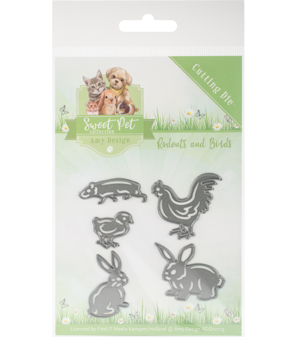 Find It Trading Sweet Pet Amy Design 5 pk Dies-Rodents & Birds