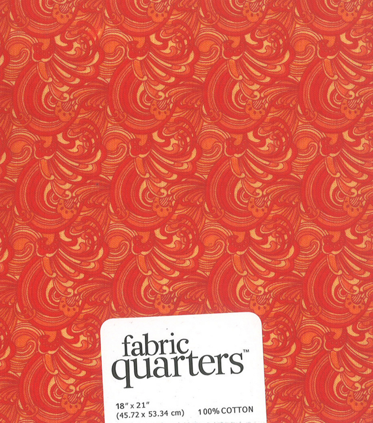 Fabric-Quarters Assorted Fabric-Orange