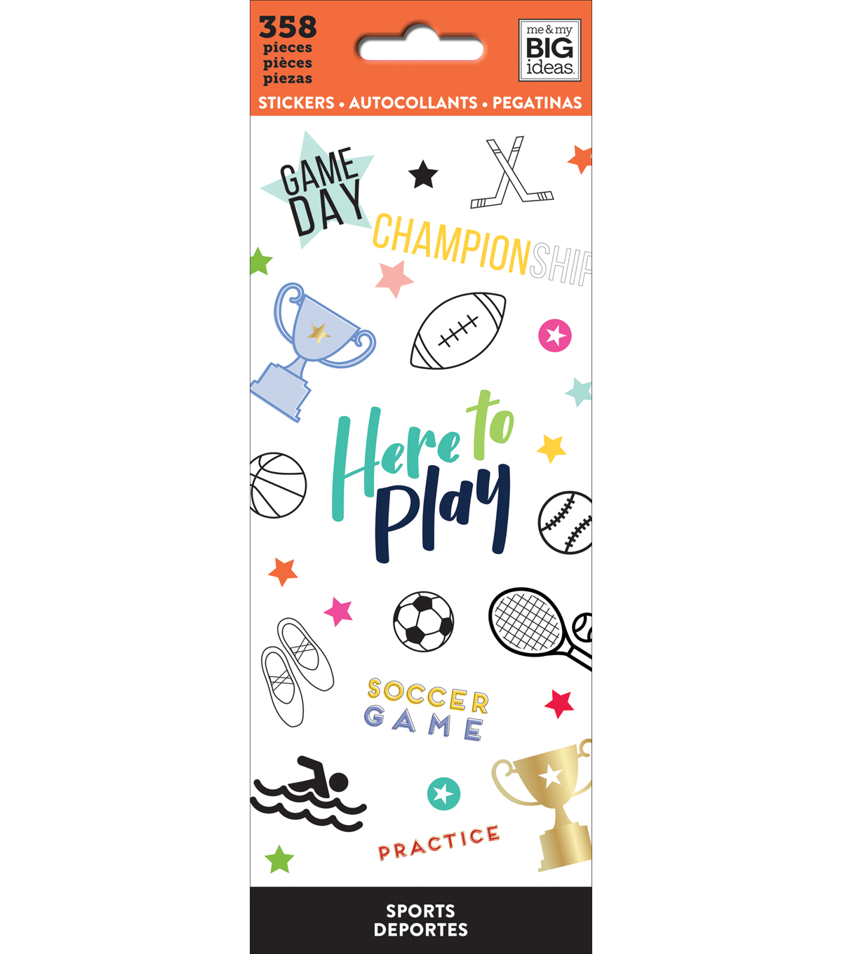 Me & My Big Ideas 358 pk Stickers-Sports