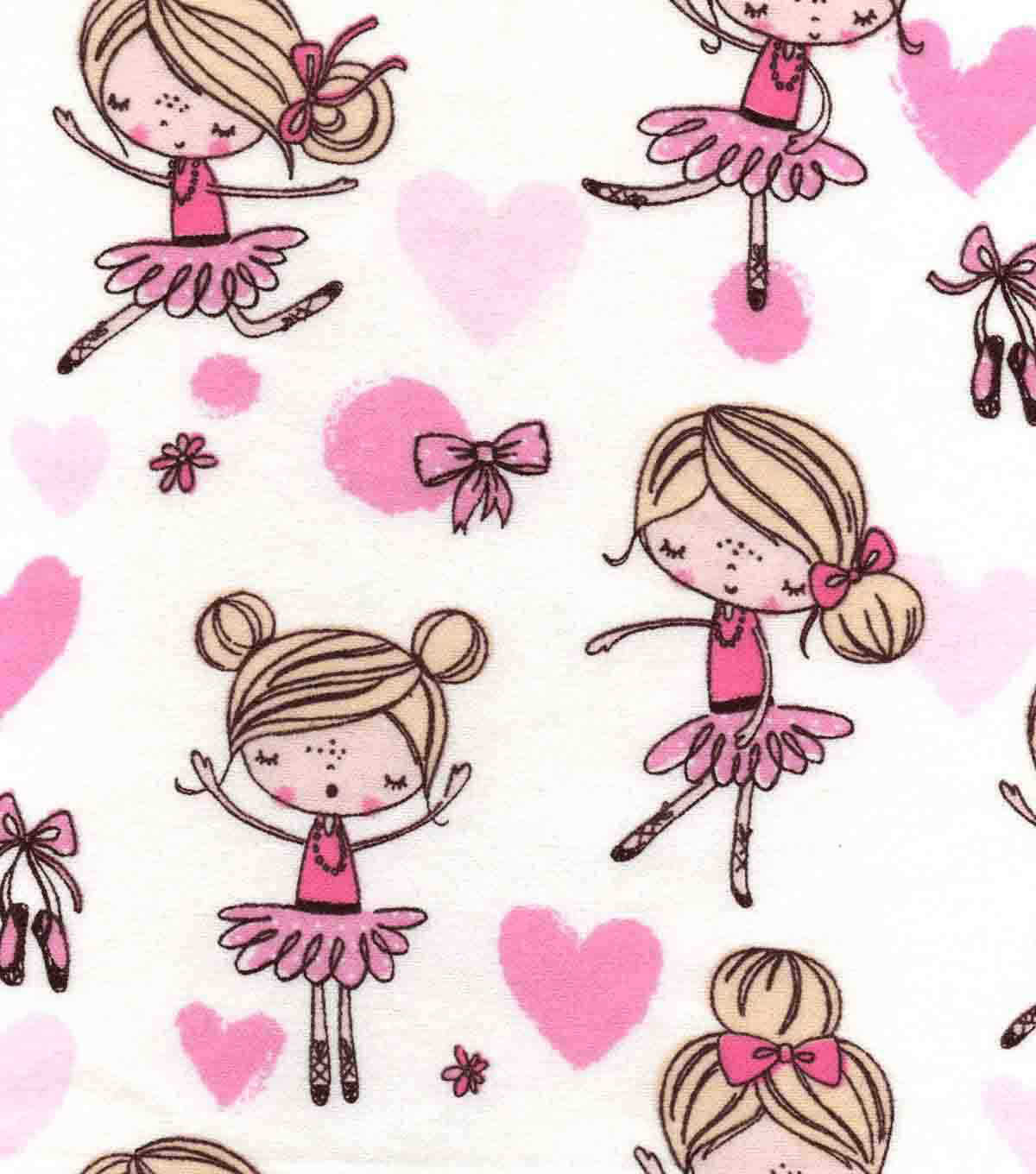Snuggle Flannel Fabric -Pretty Ballerina