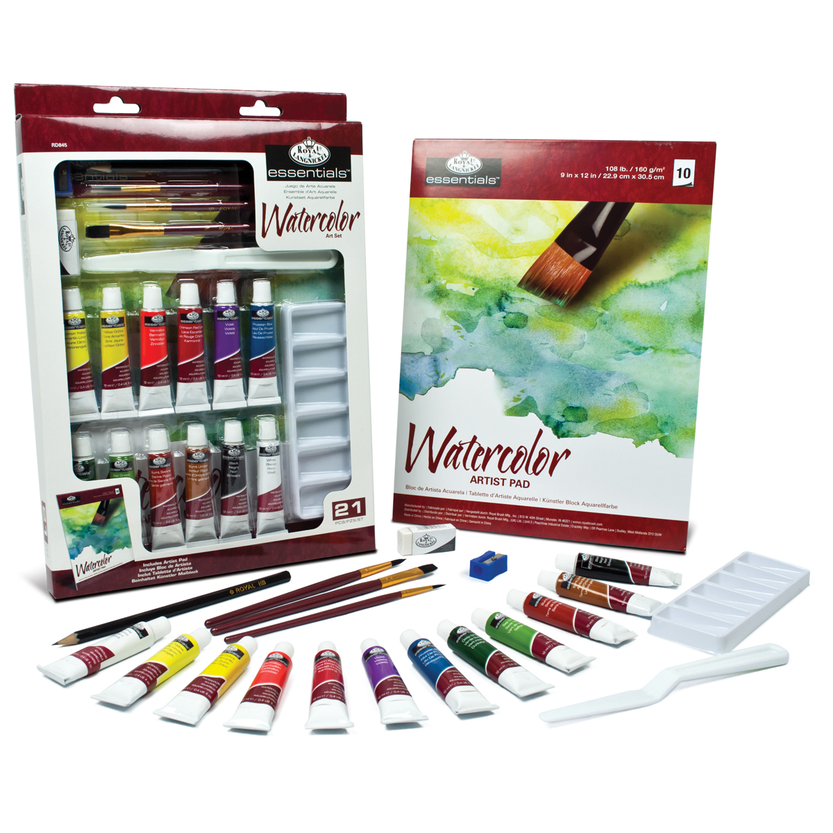 Royal Langnickel Essentials Art Set Watercolor Painting
