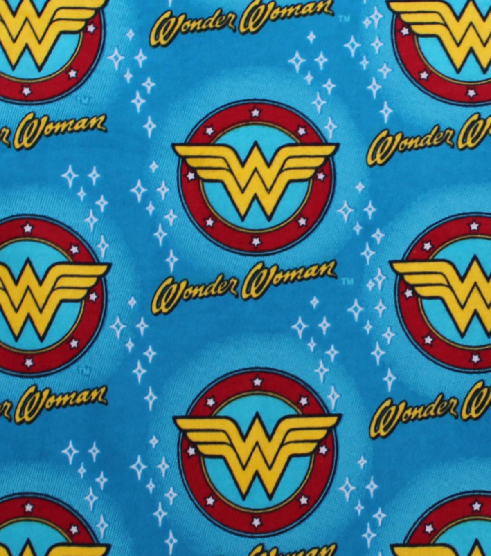Dc Comics Flannel Fabric Wonder Woman Logos Joann
