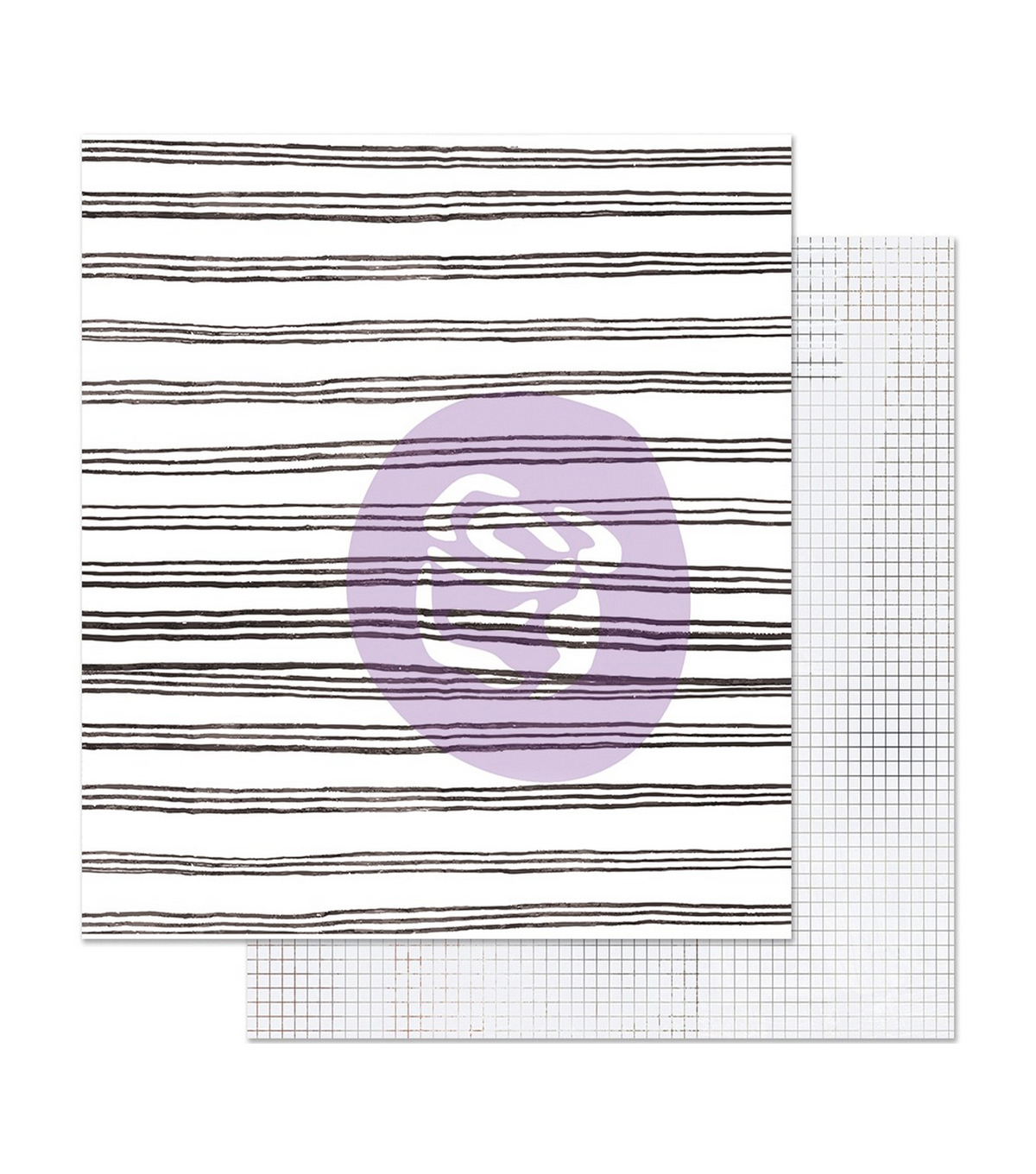 Prima Marketing Pretty Pale Foiled Double-sided Cardstock-Blurred Lines
