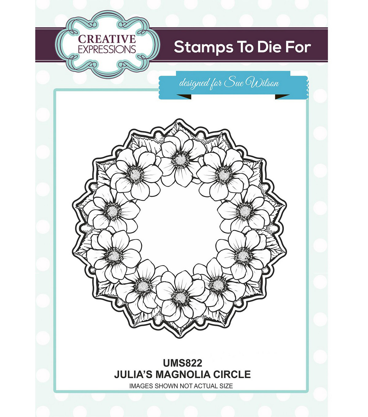 Creative Expressions Stamps To Die For Stamp-Julia\u0027s Magnolia Circle