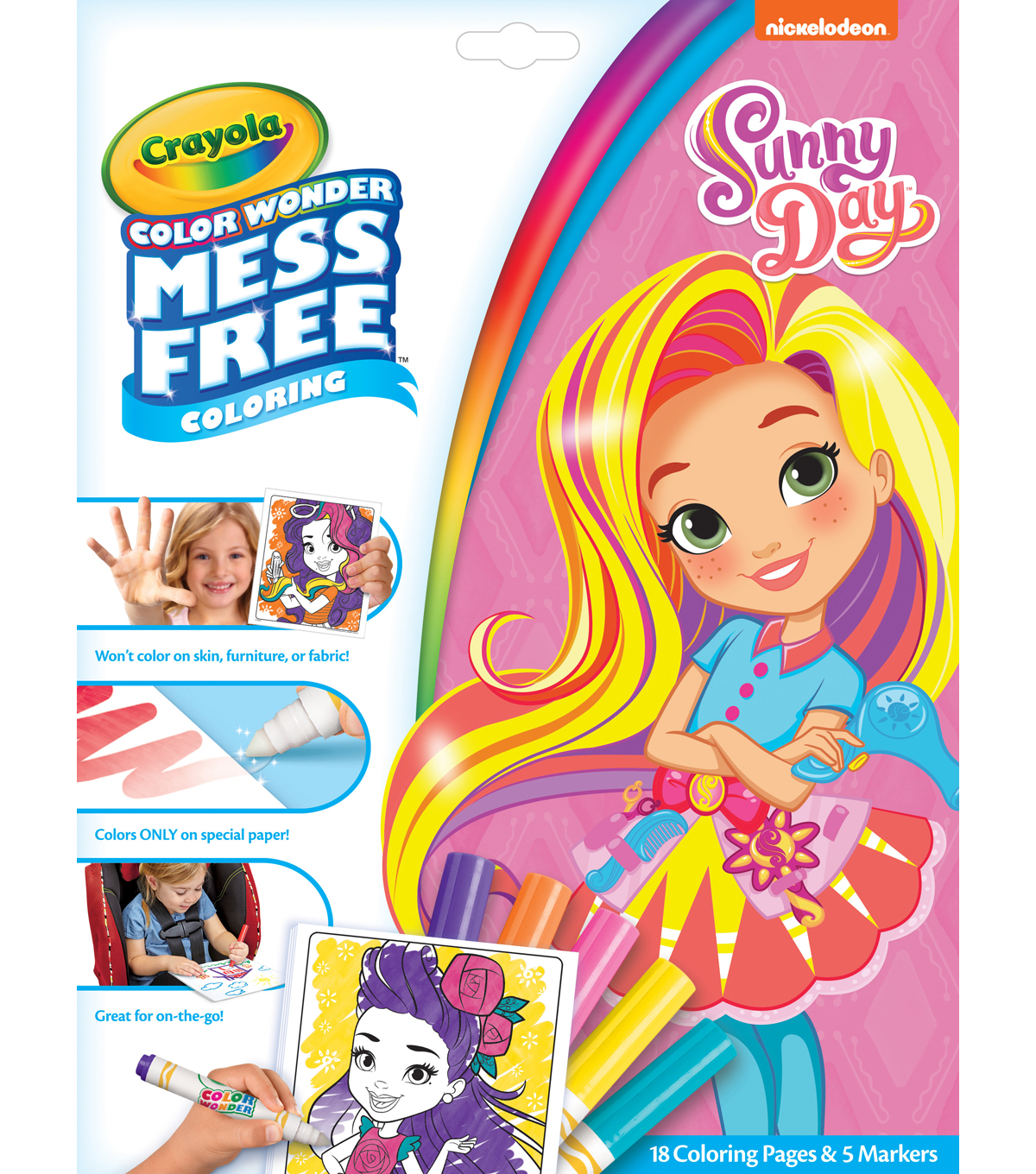 Crayola Color Wonder Mess Free Coloring Book with Markers-Sunny Day ...
