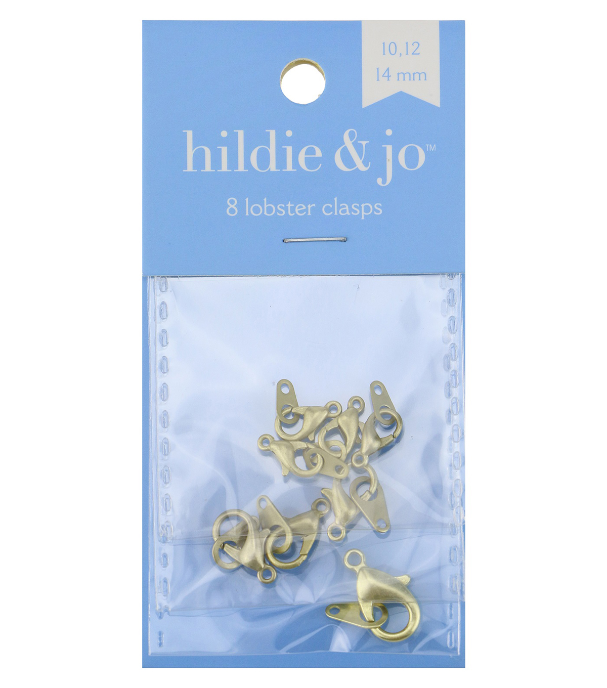 Blue Moon Findings Clasp Metal Multi Pack Lobster Matte Gold