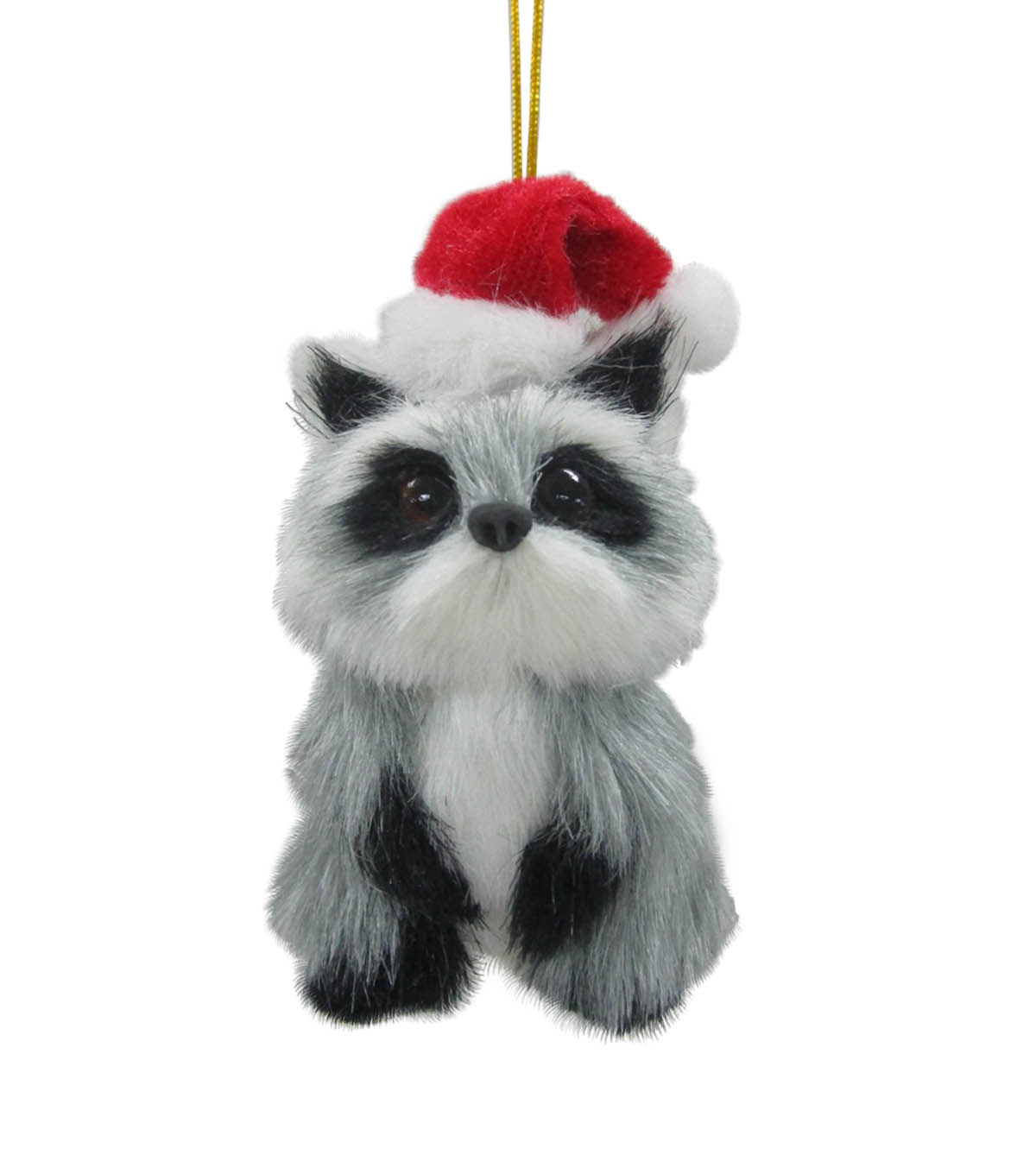 Maker\u0027s Holiday Christmas Furry Baby Raccoon Ornament