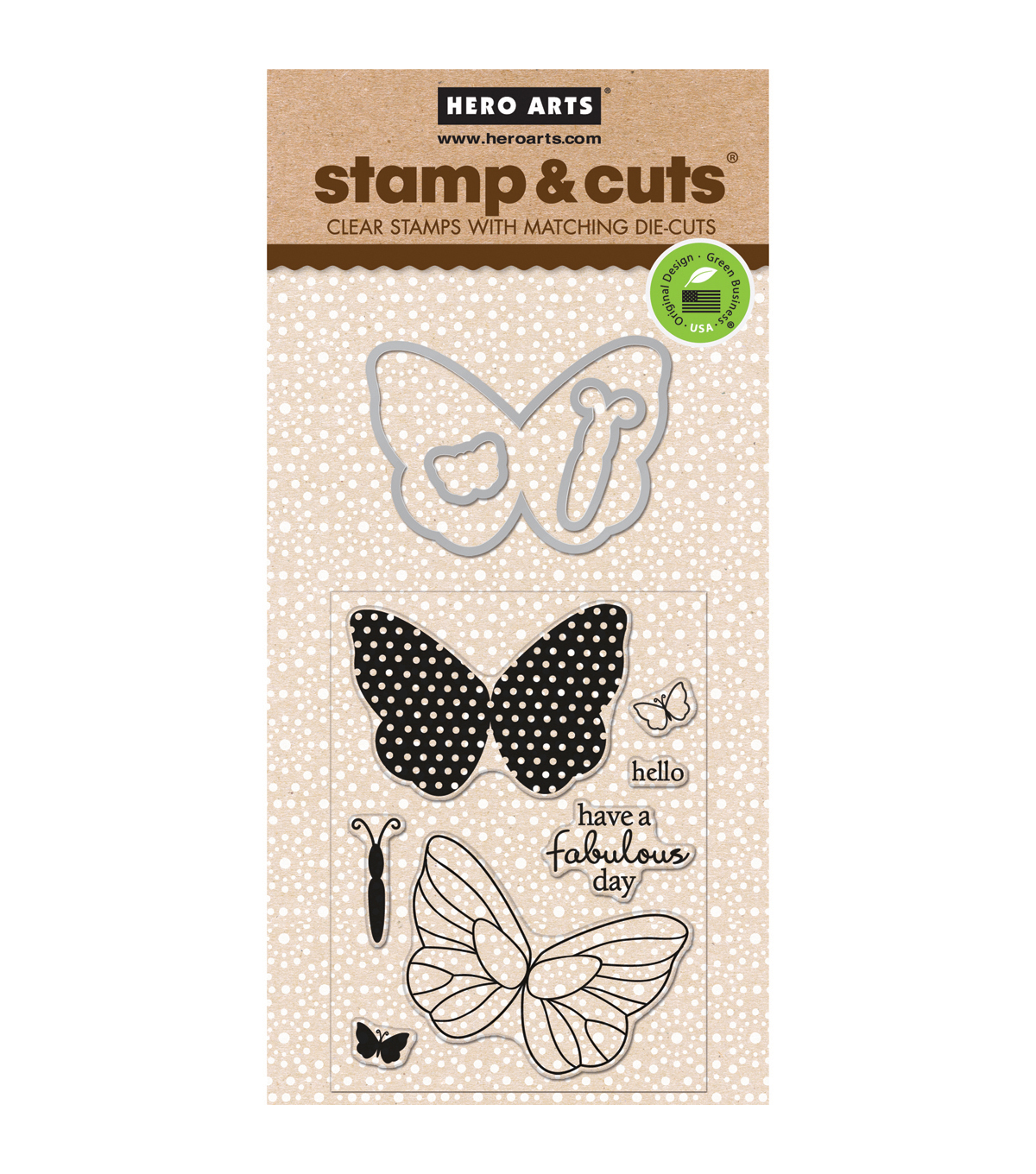 Hero Arts Stamp & Cuts-Butterflies