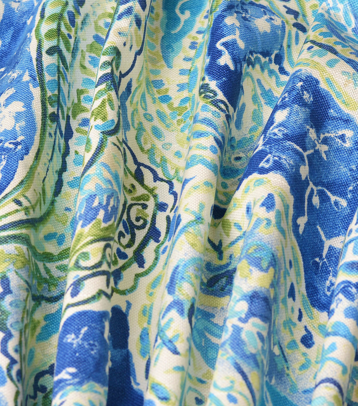 Kelly Ripa Home Upholstery Décor Fabric-Bright & Lively Bluebell