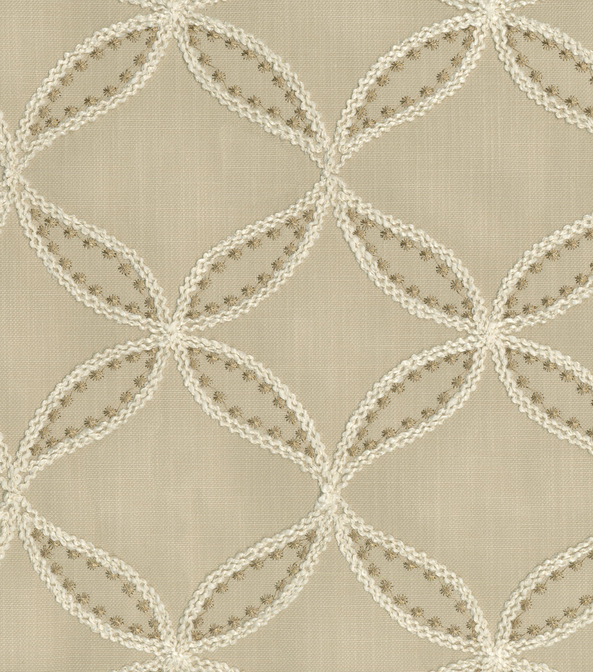 Williamsburg Upholstery Fabric-Tanjib Emb/Hemp