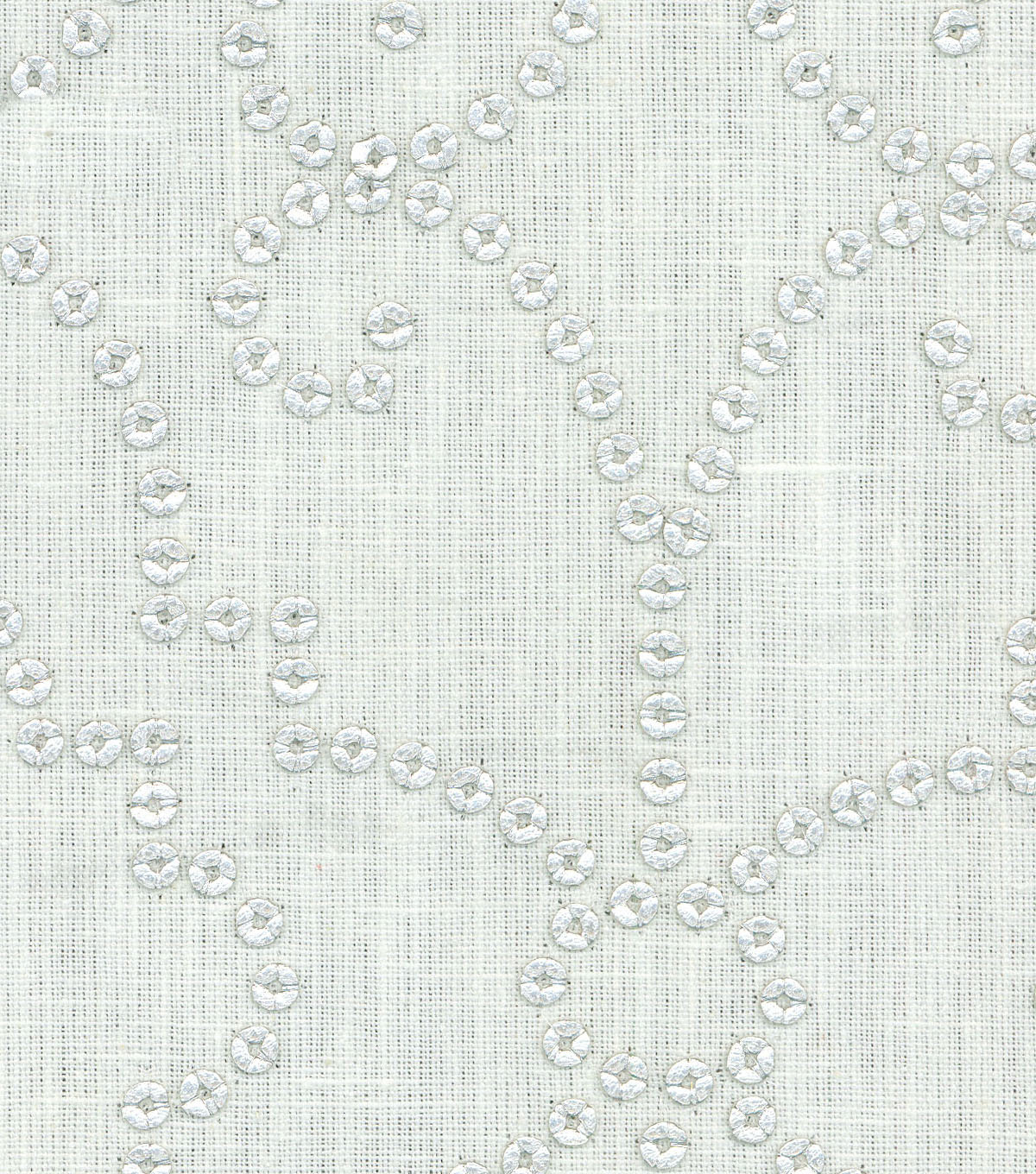 Dena Designs Upholstery Fabric 13x13\u0022 Swatch-Wow Factor Emb Sterling