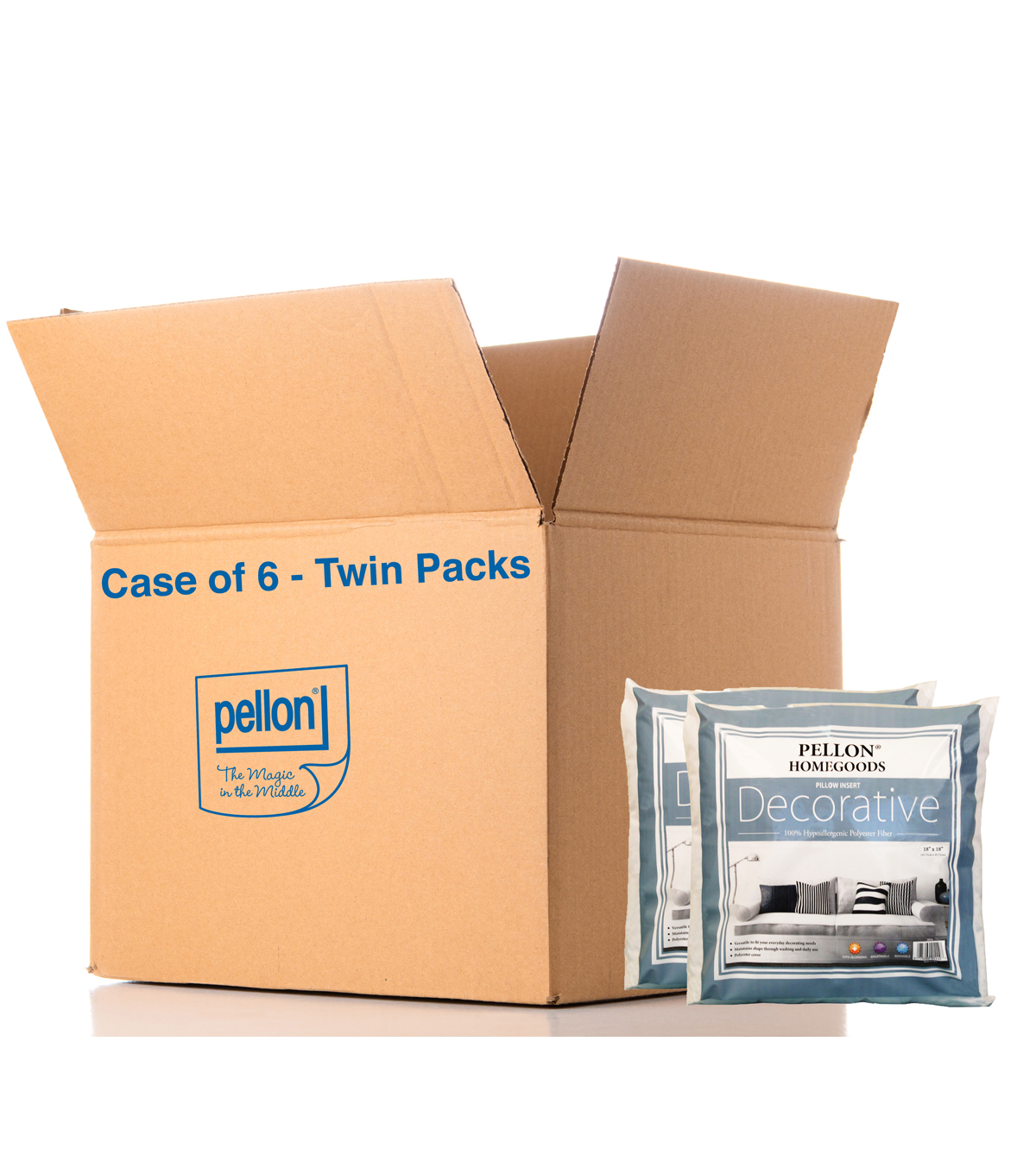 Decorative Twin Pack 18x18, 18x18 Twin Pack Case Of 6