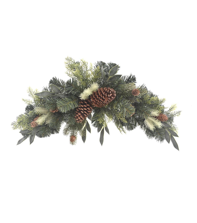 blooming holiday christmas 30u0027u0027 greenery pinecone - Christmas Greenery