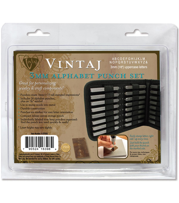 1//8 Vintaj Number Punch Set W//Case 9//Pkg-3mm