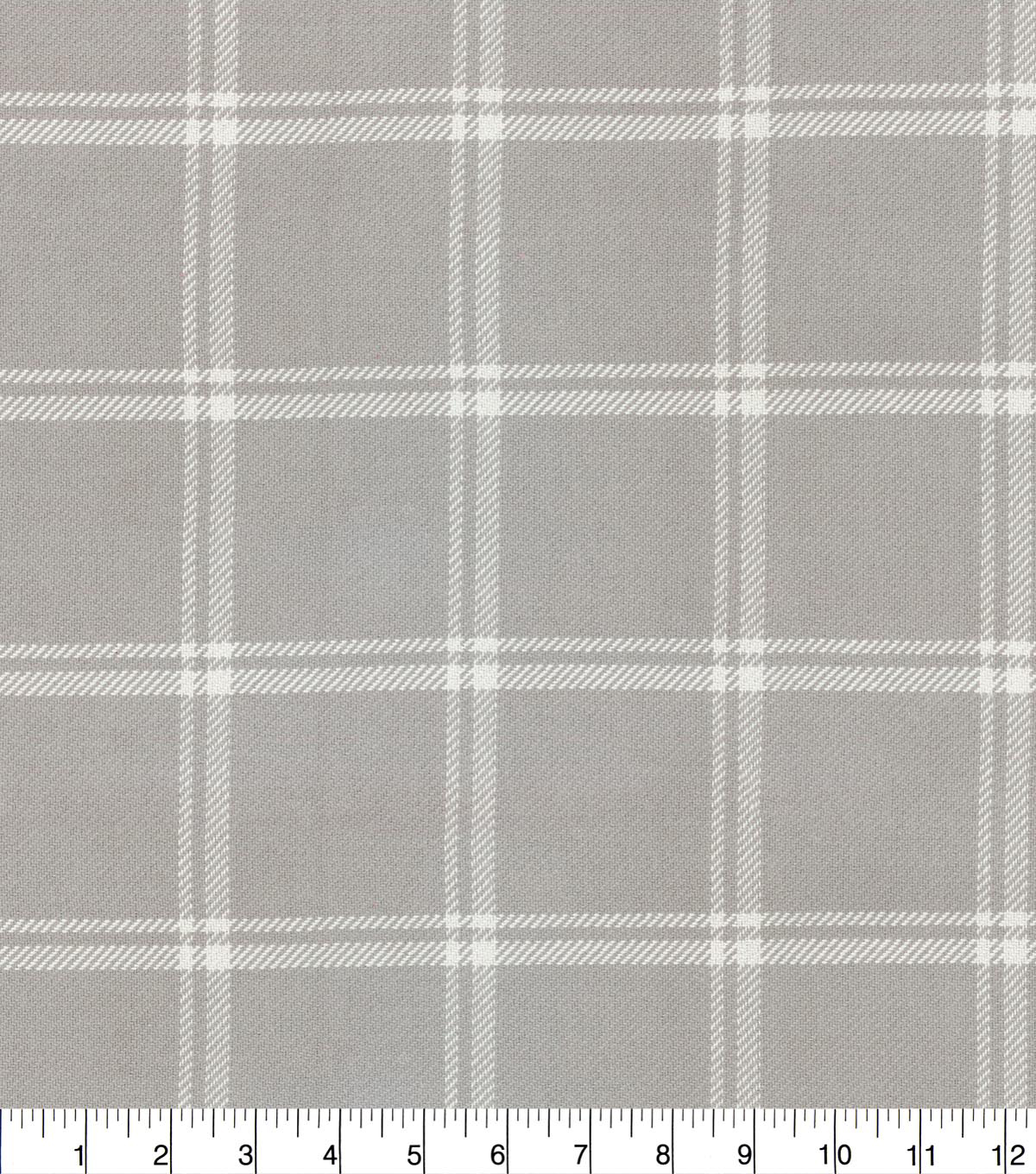 Home Decor 8\u0022x8\u0022 Fabric Swatch-Waverly Bloomsbury Plaid Taupe