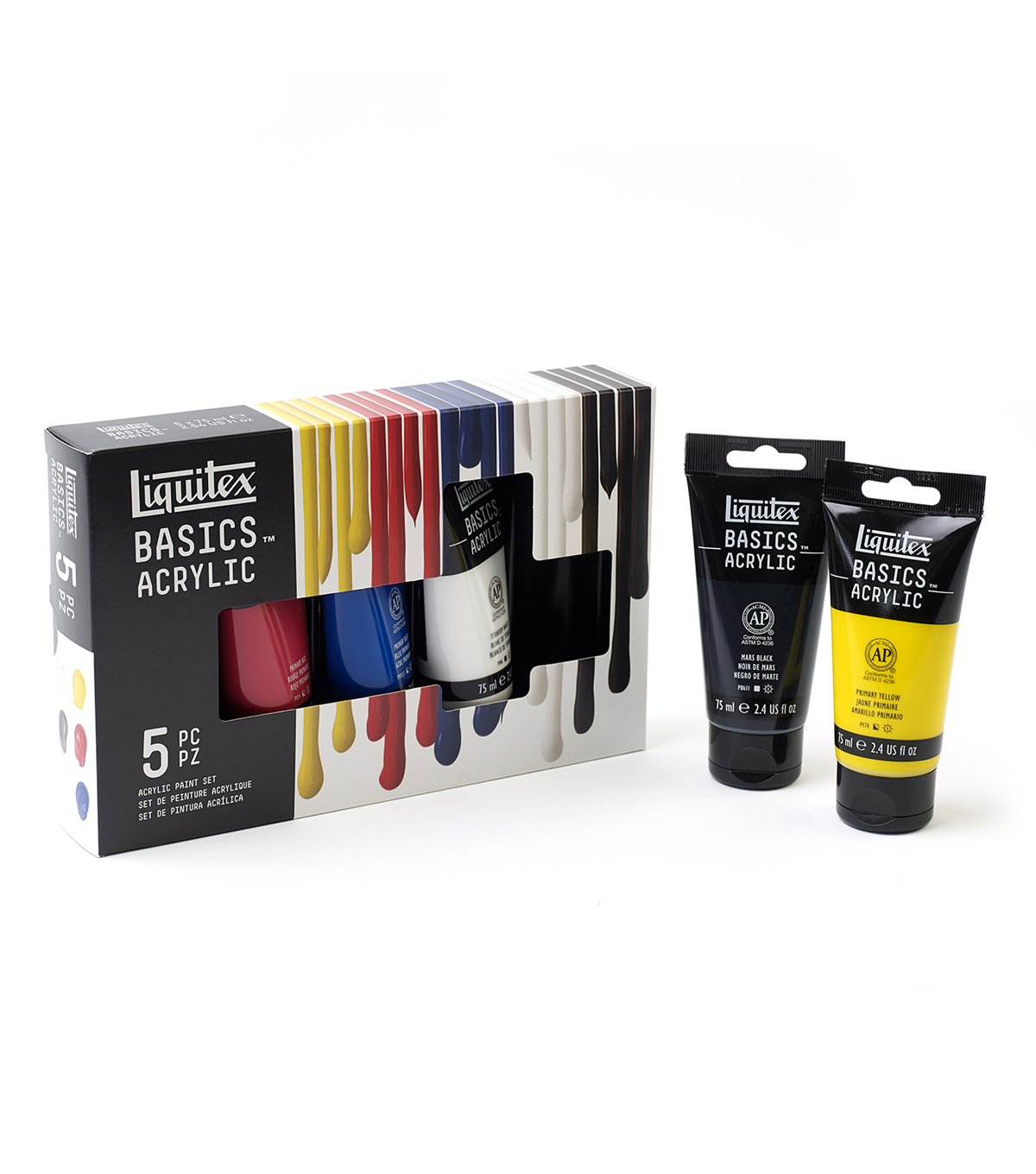 Liquitex Basics Acrylic Paint Set 75ml 5Pk