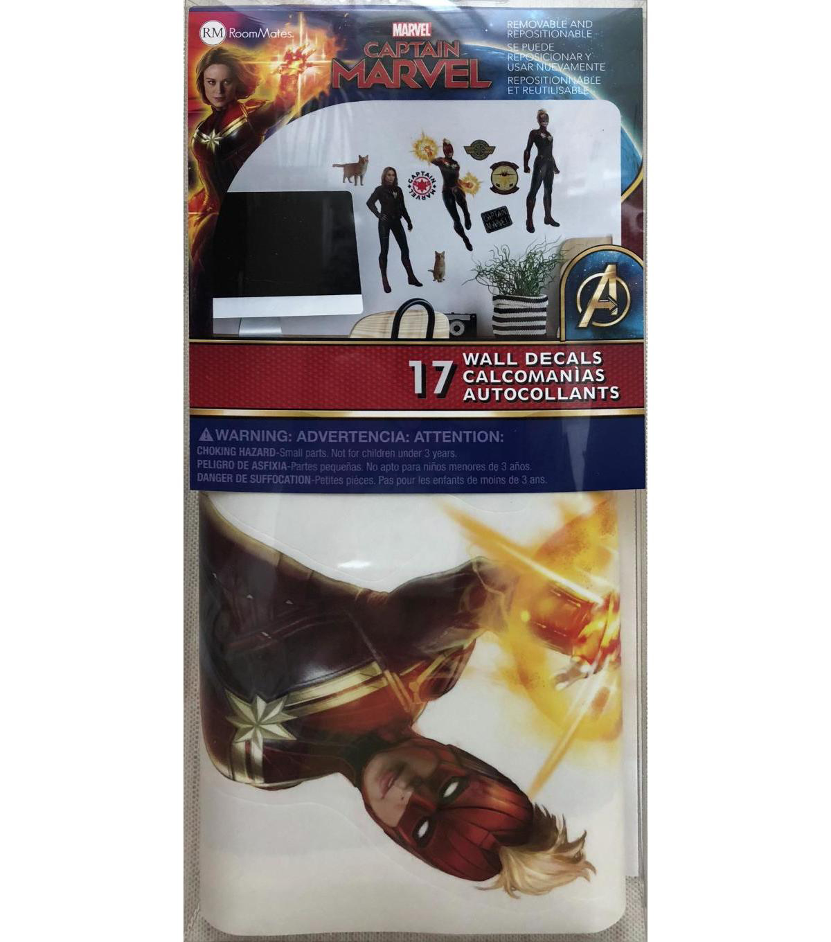 York Wallcoverings Wall Decals-Captain Marvel