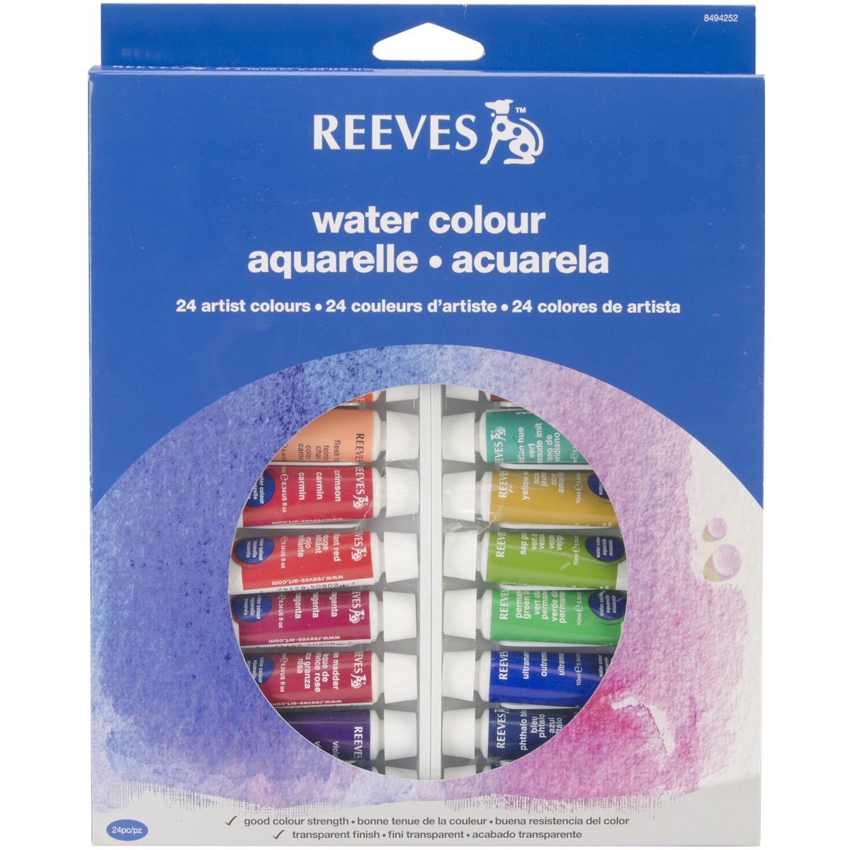 Reeves Watercolor Paint Assorted Colors 24 Per Package