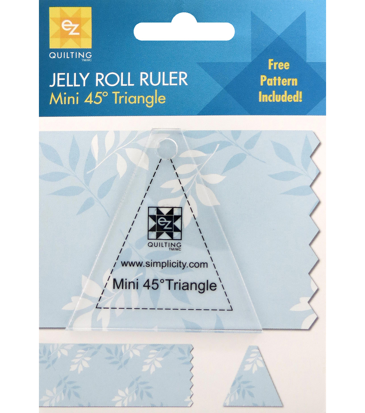 Ez Quilting Mini 45° Triangle Jelly Roll Ruler