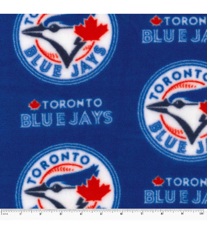 Toronto Blue Jays Fleece Fabric Logo Joann