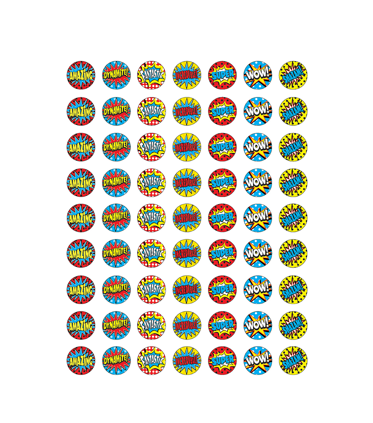 Teacher Created Resources Superhero Mini Stickers 12 Packs