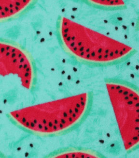 Anti-Pill Fleece Fabric -Watermelons Texture