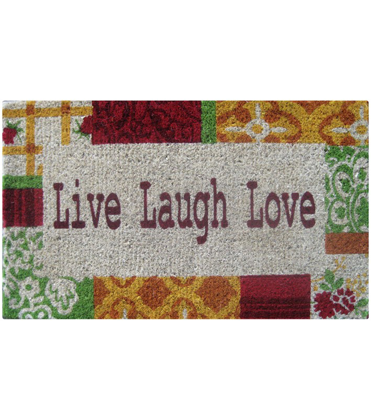 Live Laugh Color Coir Mat