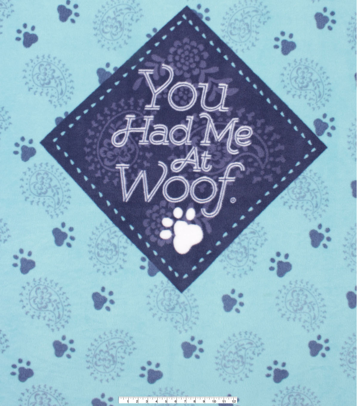 No Sew Fleece Throw 48\u0022-You Had Me at Woof