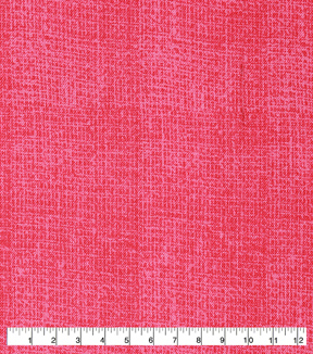 Keepsake Calico Cotton Fabric-Burlap Texture Coral