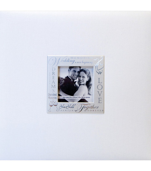 MBI Expressions Post Bound Album w/Window 8\u0022X8\u0022-Wedding - White