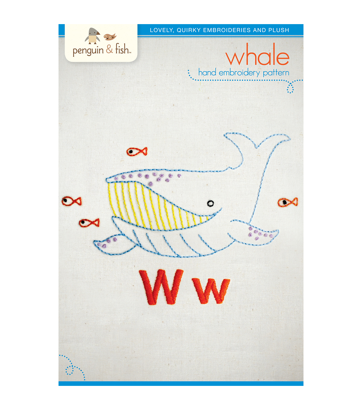 Penguin & Fish Embroidery Patterns-Whale