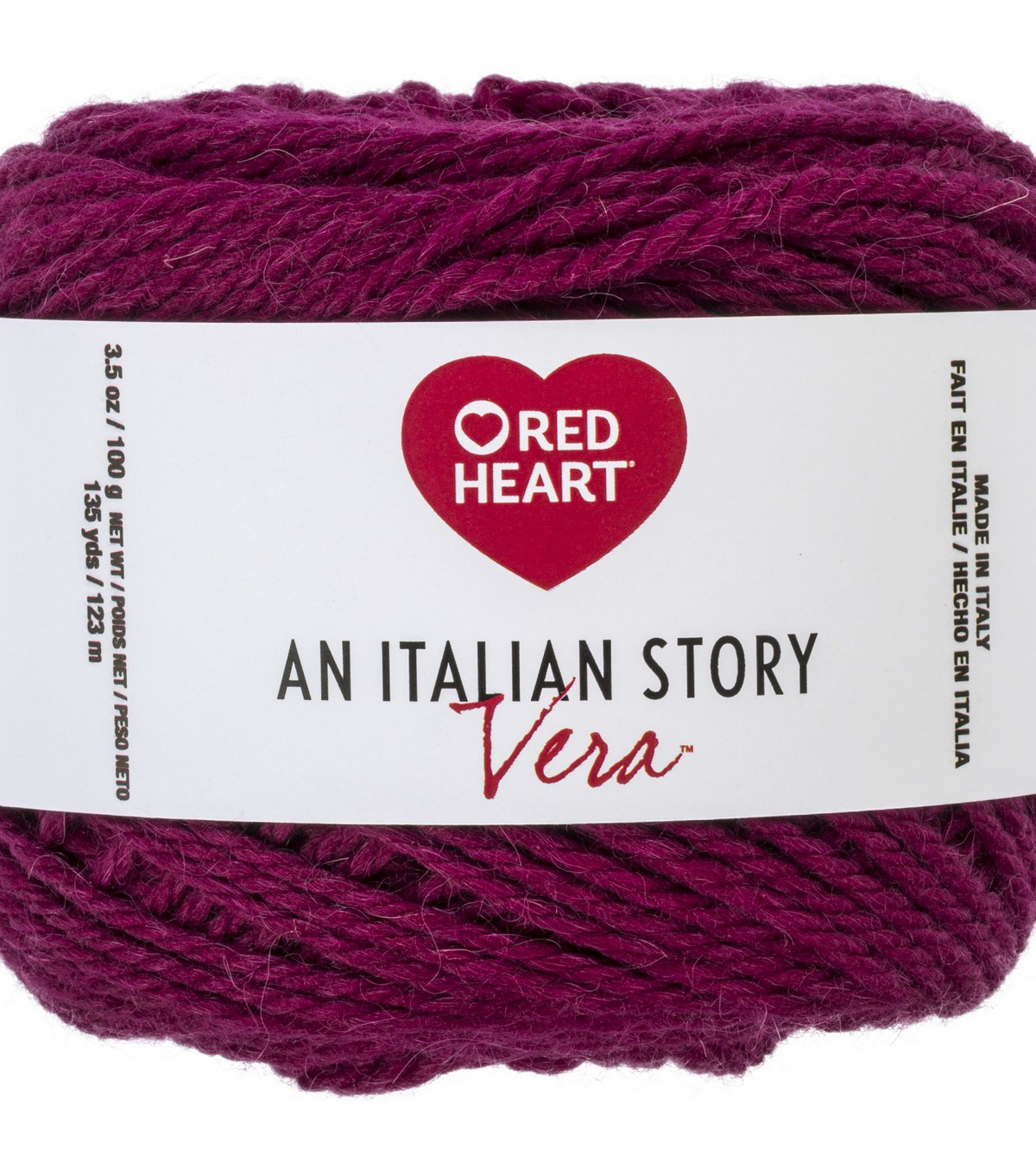 Red Heart An Italian Story Vera Yarn, Melanzana