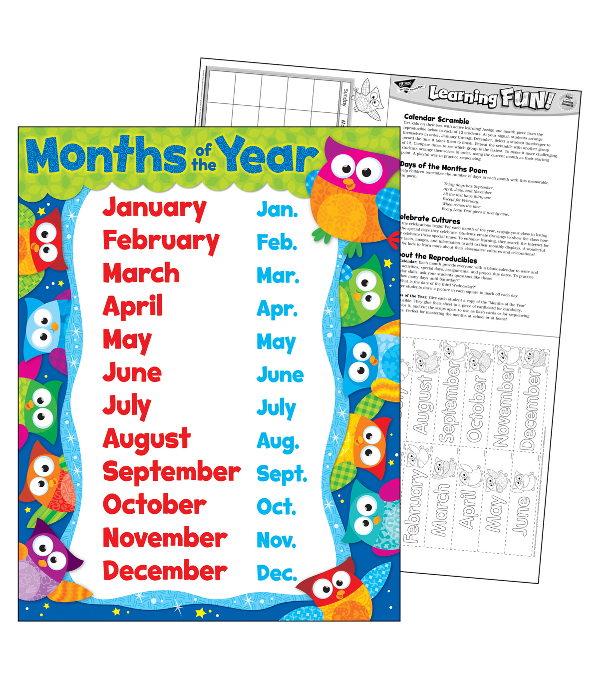 Months of the Year Owl-Stars! Learning Chart 17