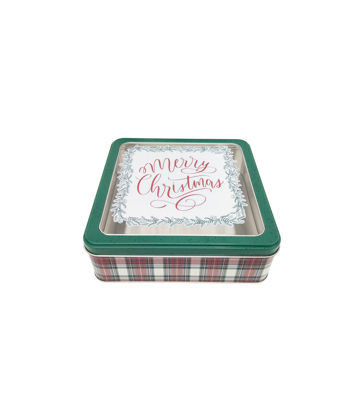 Maker\u0027s Holiday Medium Square Cookie Container with Clear Top