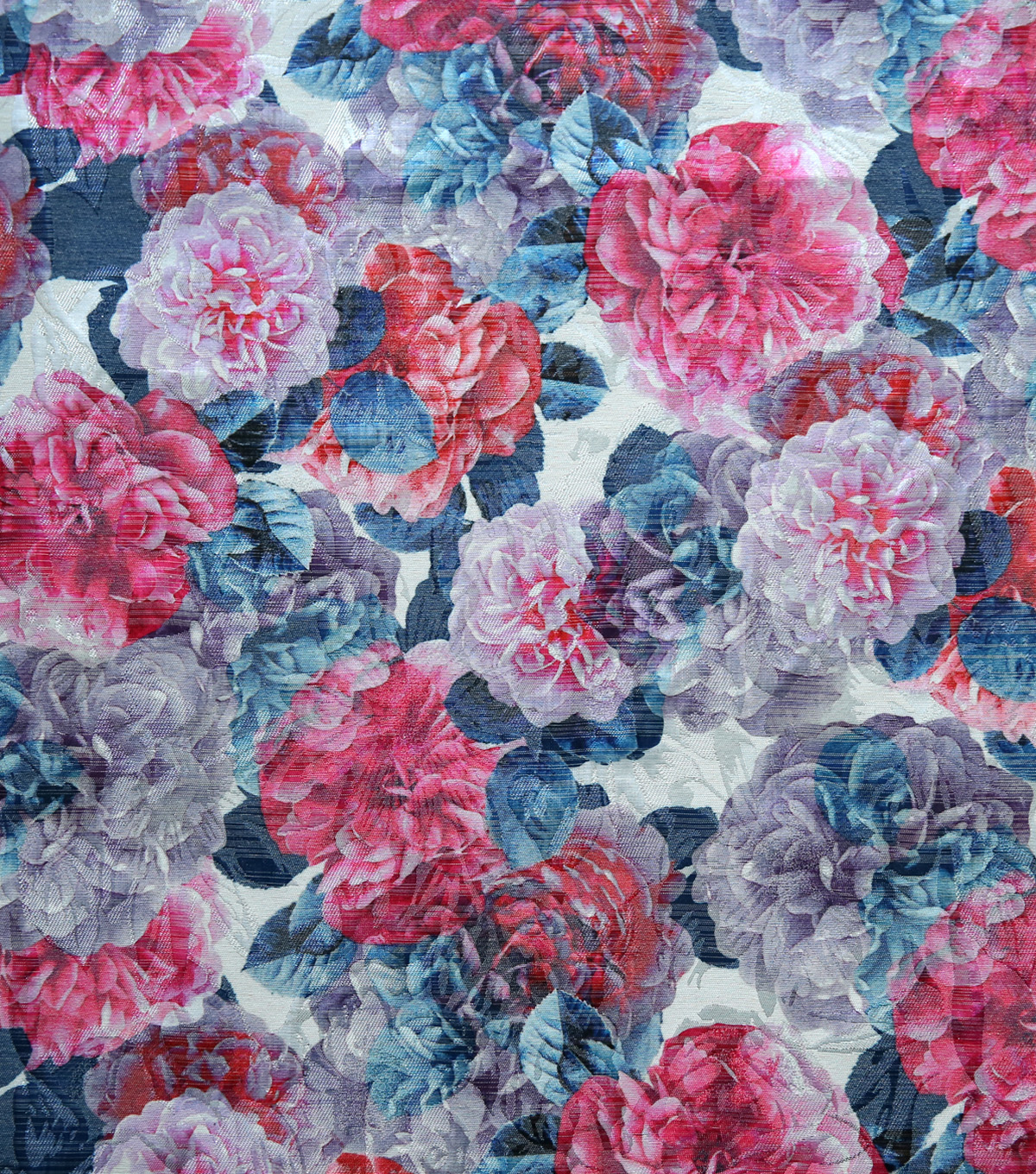 Sew Sweet Printed Floral Brocade Fabric