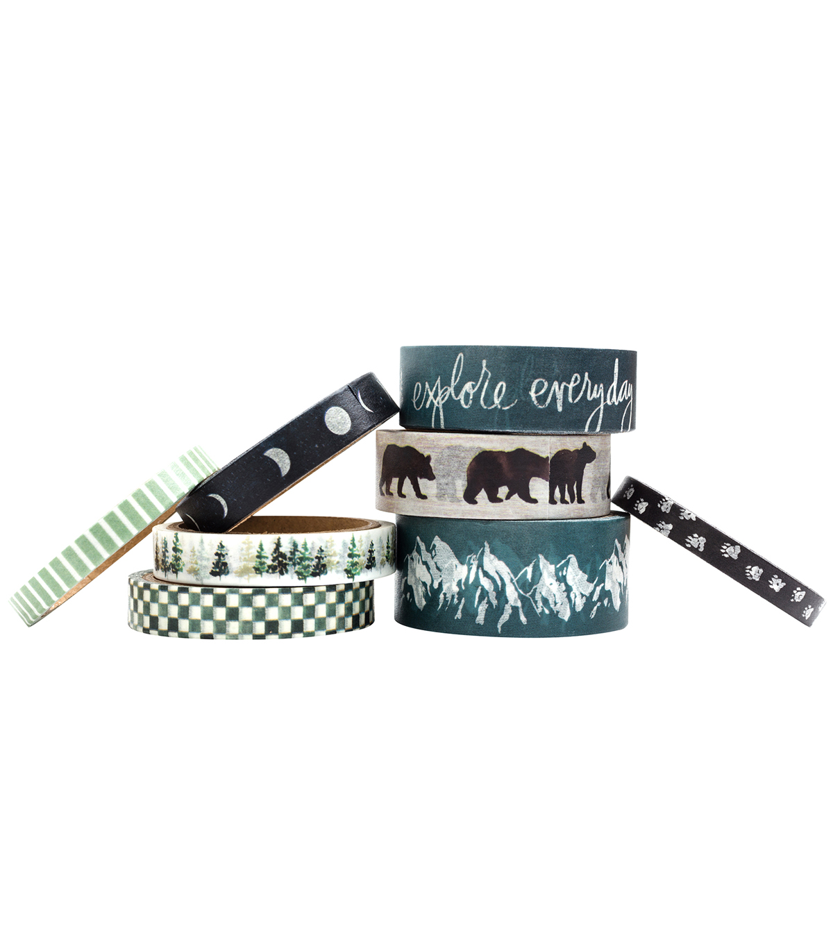 Heidi Swapp Wolf Pack Washi Tape Rolls-Pack of 8