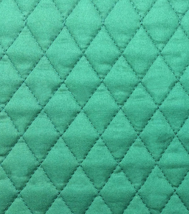 Double Faced Pre-Quilted Cotton Fabric -Diamond Solids, Hunter
