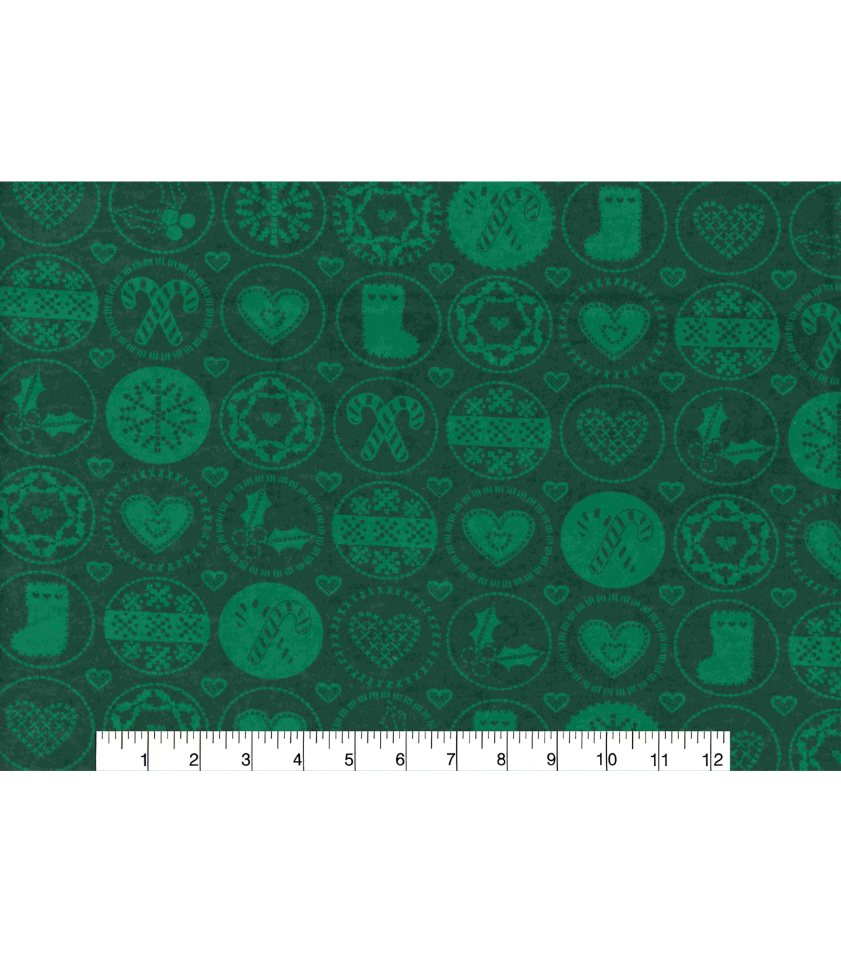Christmas Flannel Fabric -Christmas in Circles