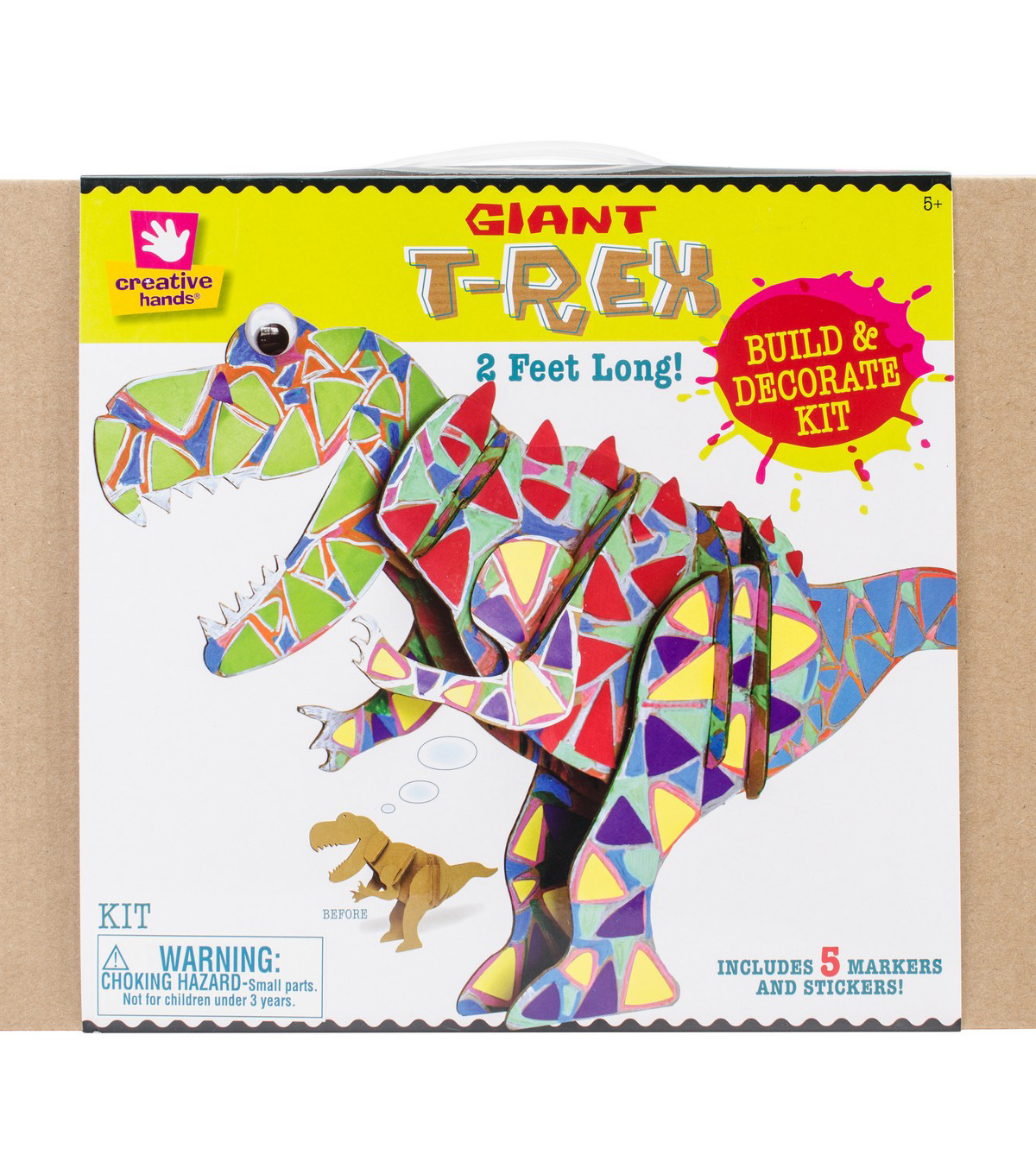 creative hands 3d giant t rex craft kit joann