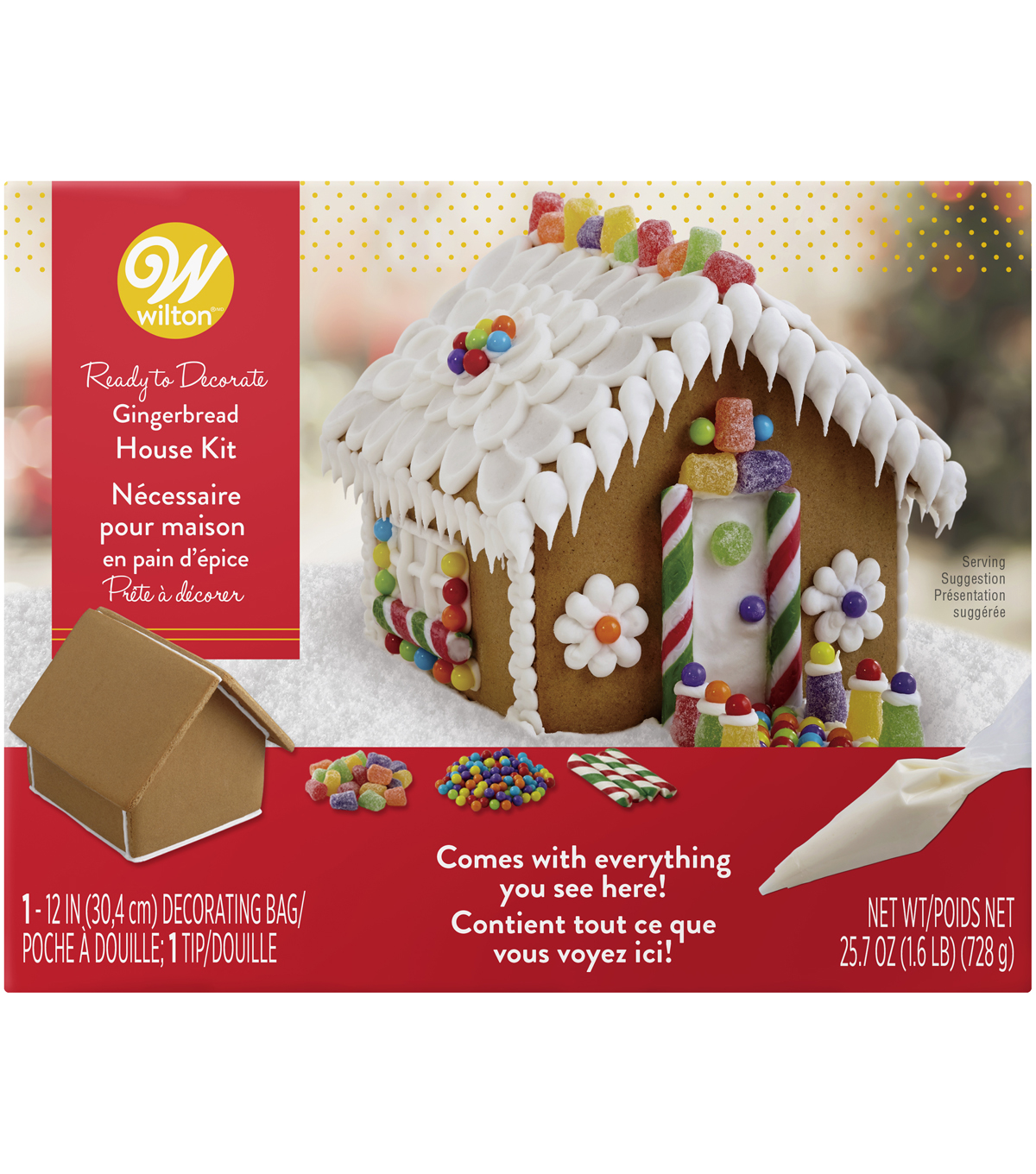 Wilton Ready to Decorate Gingerbread House Decorating Kit