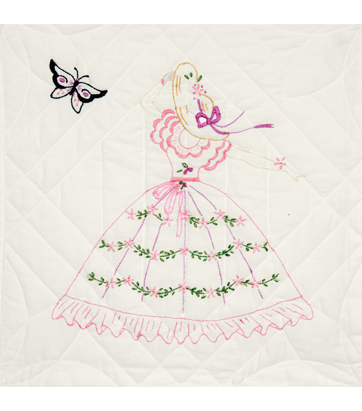 Fairway Stamped Quilt Blocks Butterfly Lady