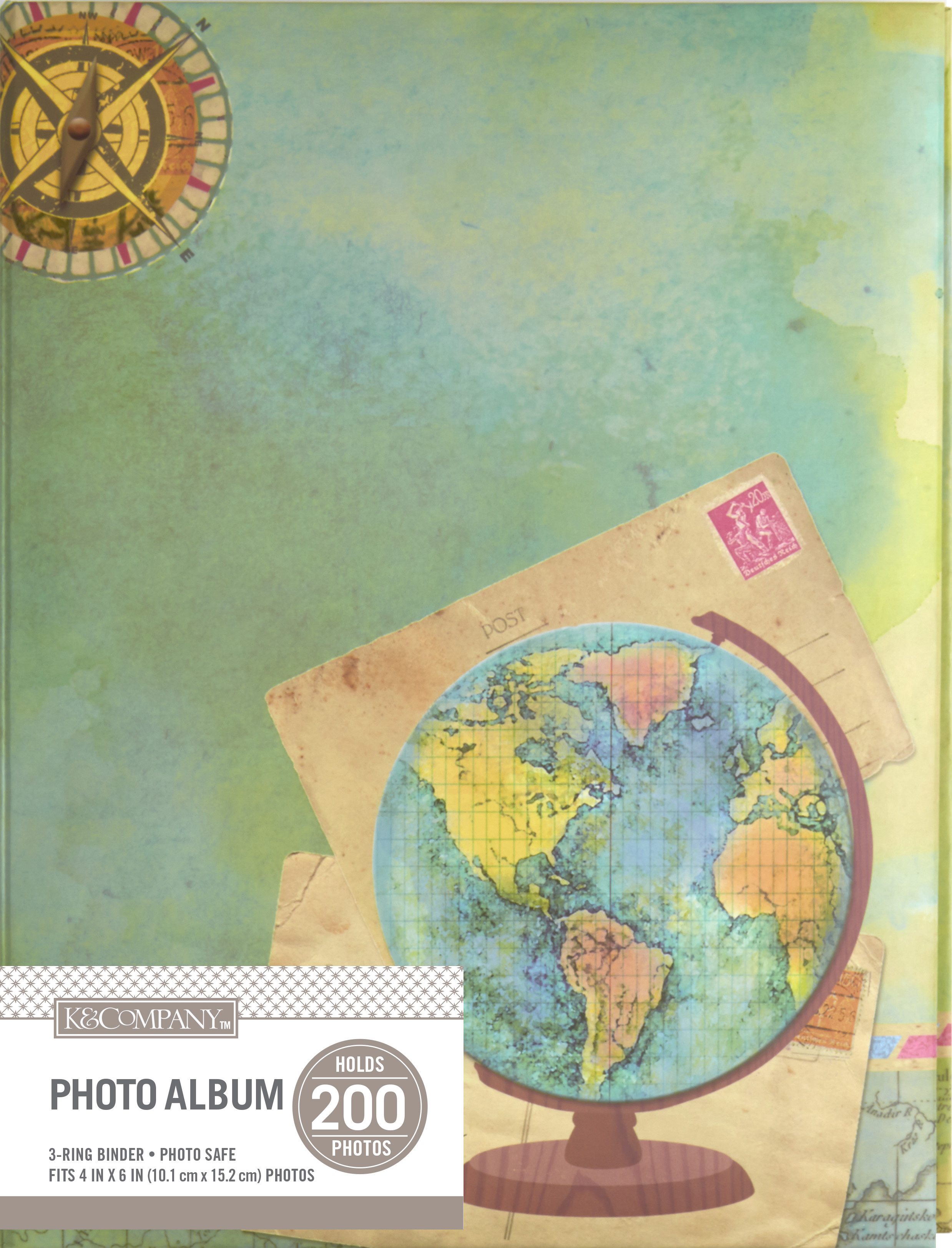 K&Company Travel Map 2 Up Binder Memo Photo Album