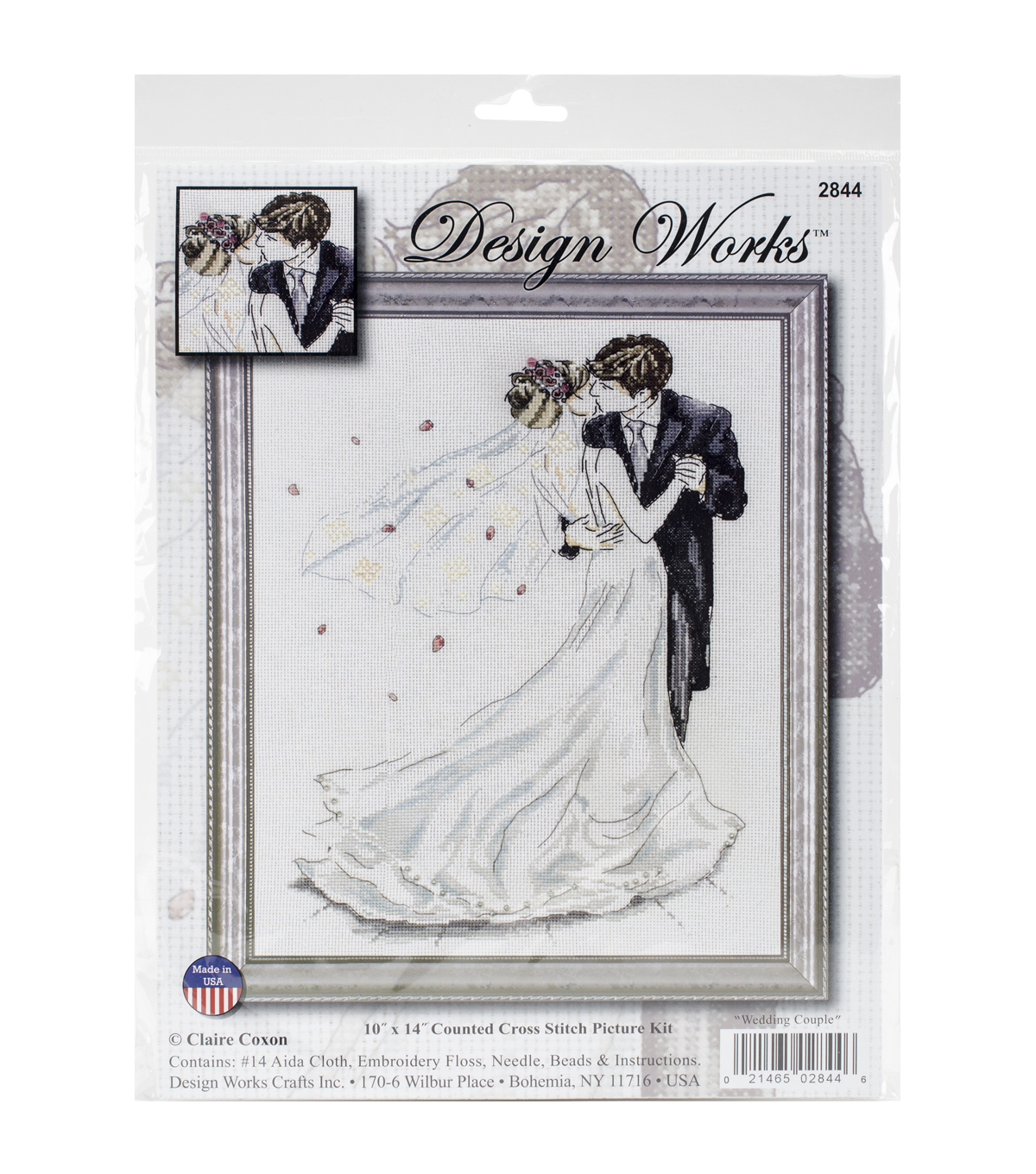 Design Works Wedding Couple Counted Cross Stitch Kit